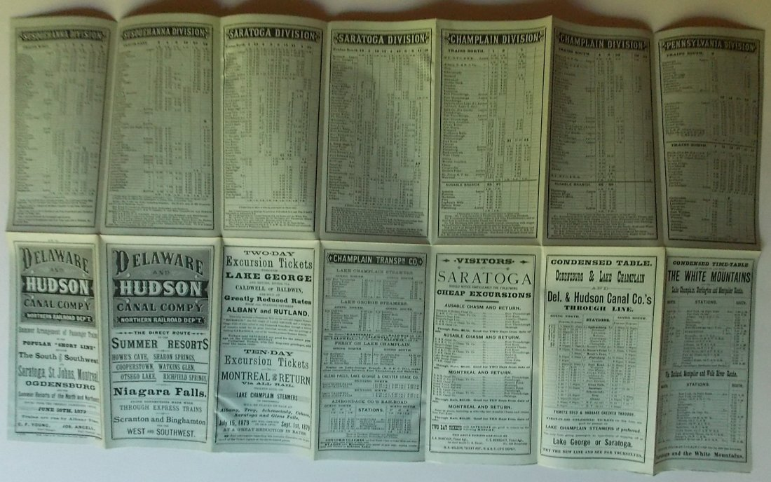 Delaware & Hudson Canal Company Timetable 1879 - 2