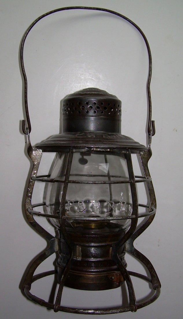 Philadelphia & Reading Adams Lantern - Broken EB globe - 2