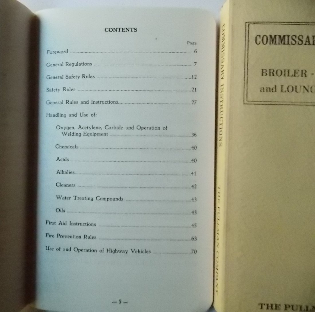 Dining Car Rule and Recipe Books (3) - 2