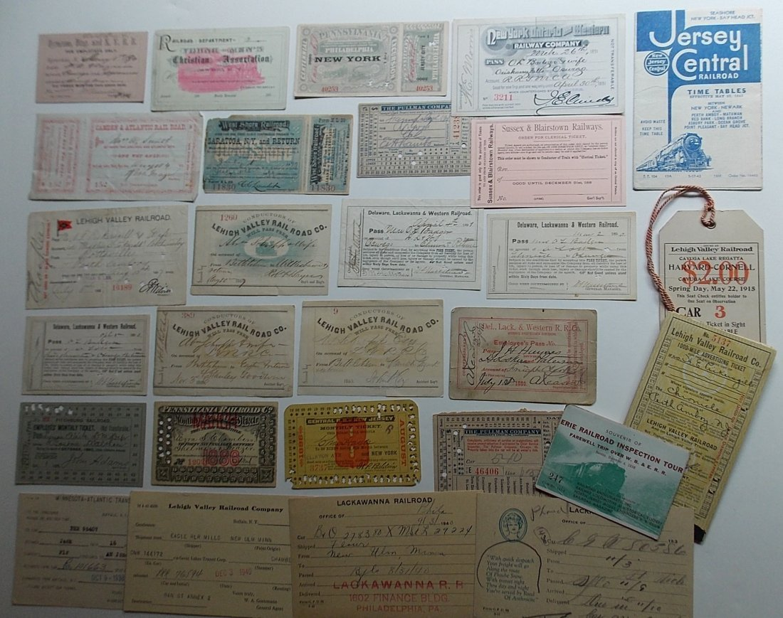 Mid-Atlantic Railroads Passes, Ephemera