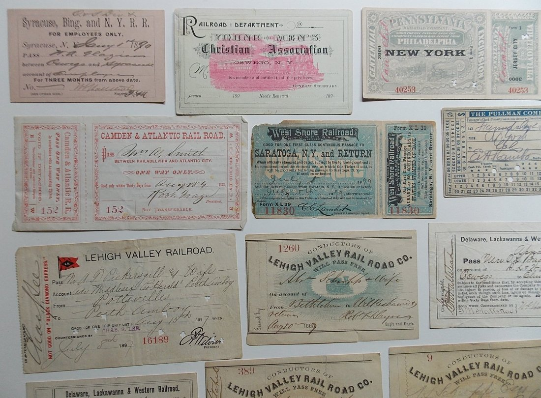 Mid-Atlantic Railroads Passes, Ephemera - 2