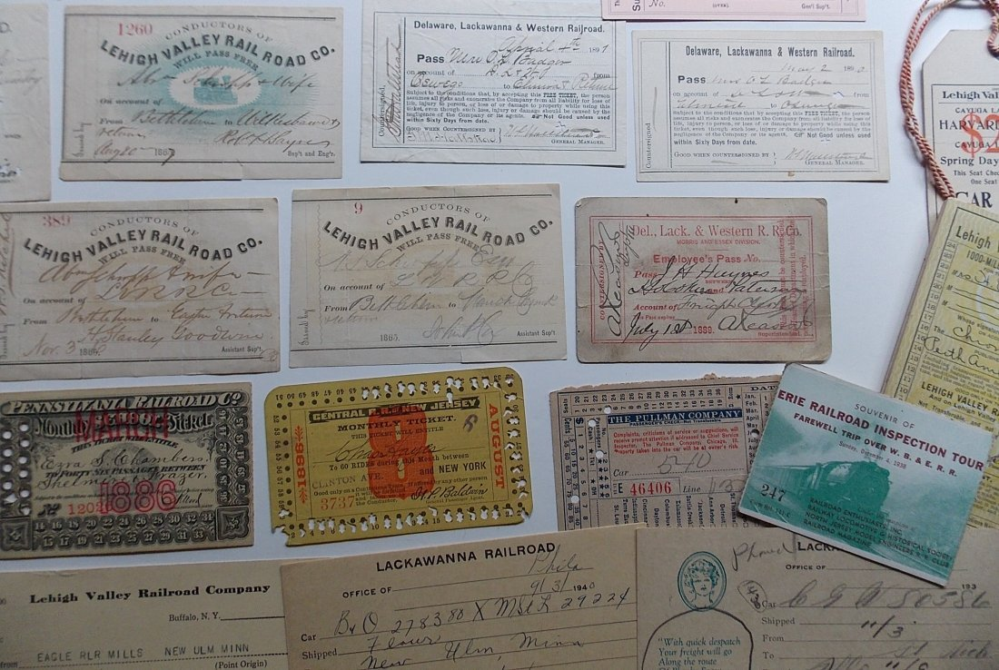 Mid-Atlantic Railroads Passes, Ephemera - 3