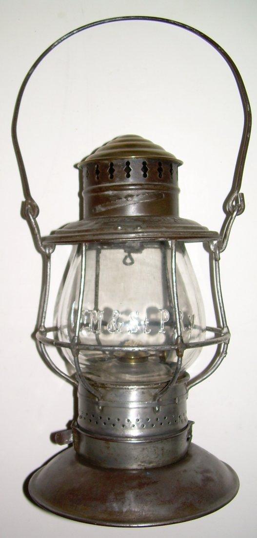 CM&StP RY Brasstop Bellbottom Lantern - 2