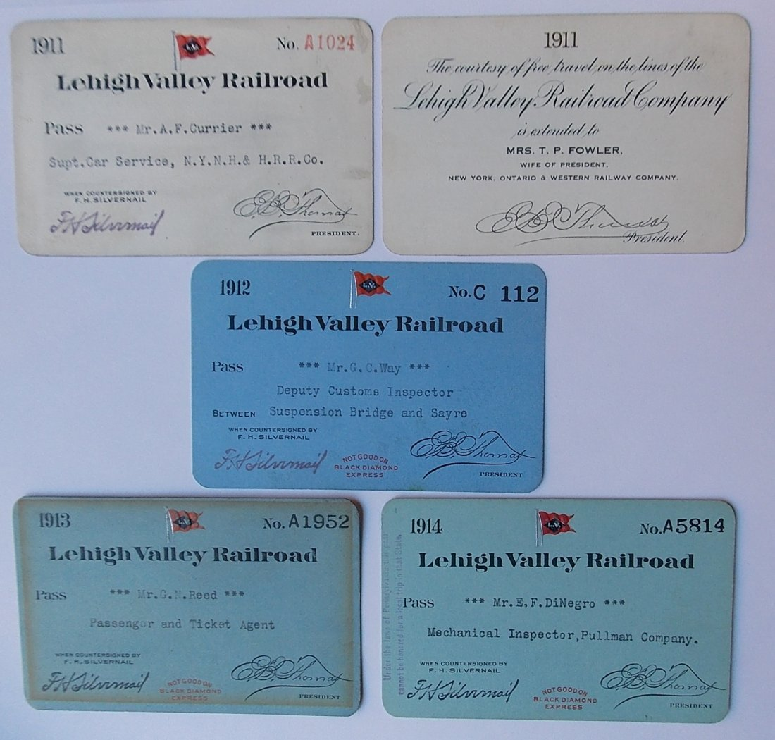 Lehigh Valley Railroad Passes (5)