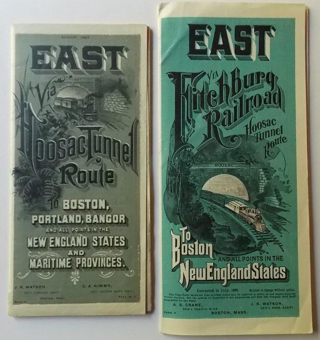 Fitchburg Railroad Timetables 1897 1899