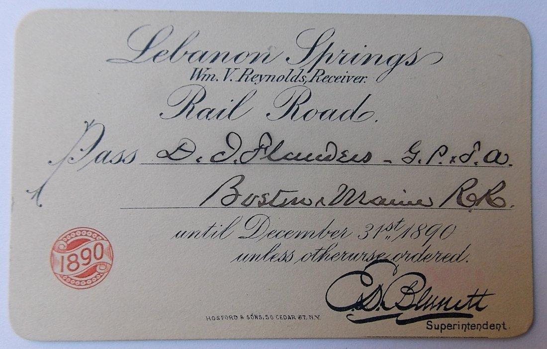 Lebanon Springs Railroad Pass 1890