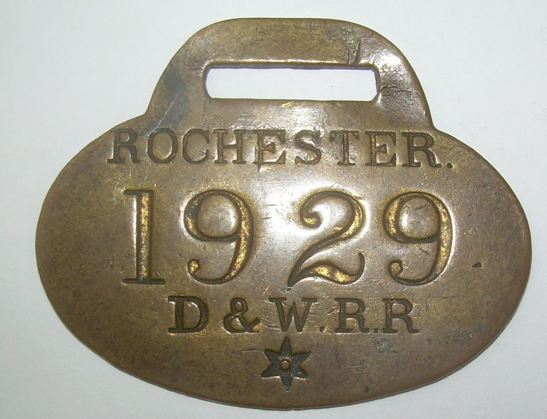 Rochester NH Dover & Winnipesaukee Tag