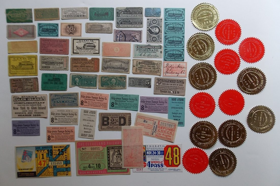 Trolley & Electric Line tickets (60)