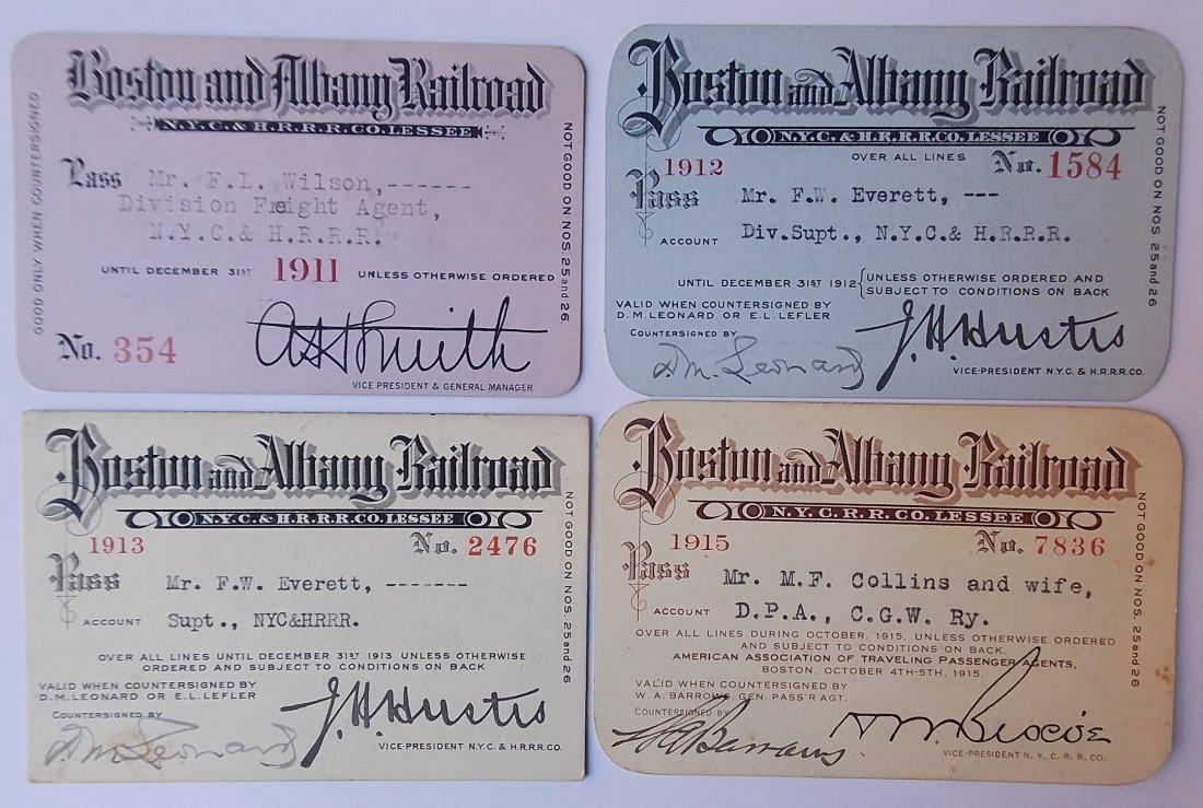 Boston & Albany Railroad Passes (4)