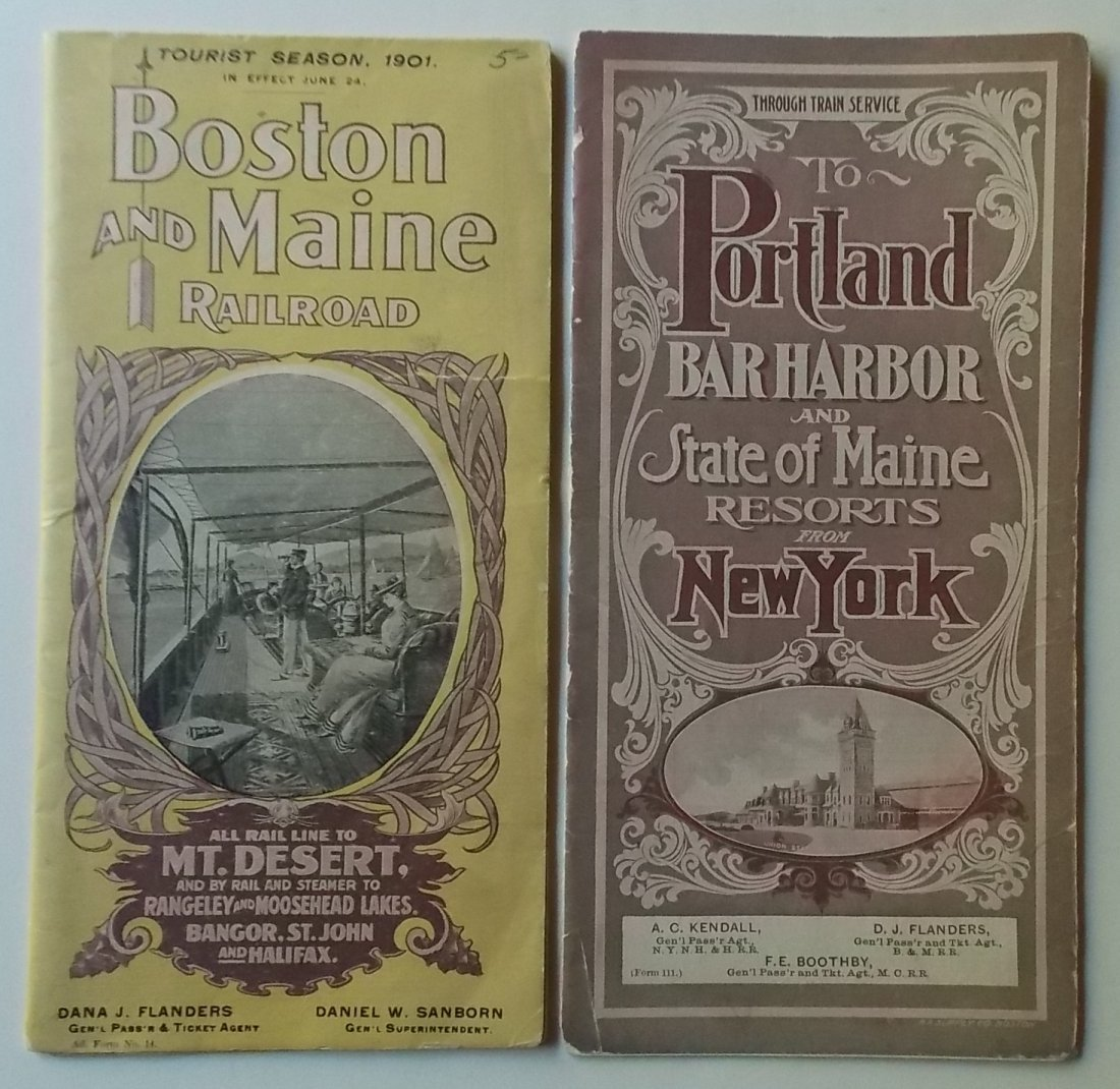 Bar Harbor Maine Timetables 1901 1906