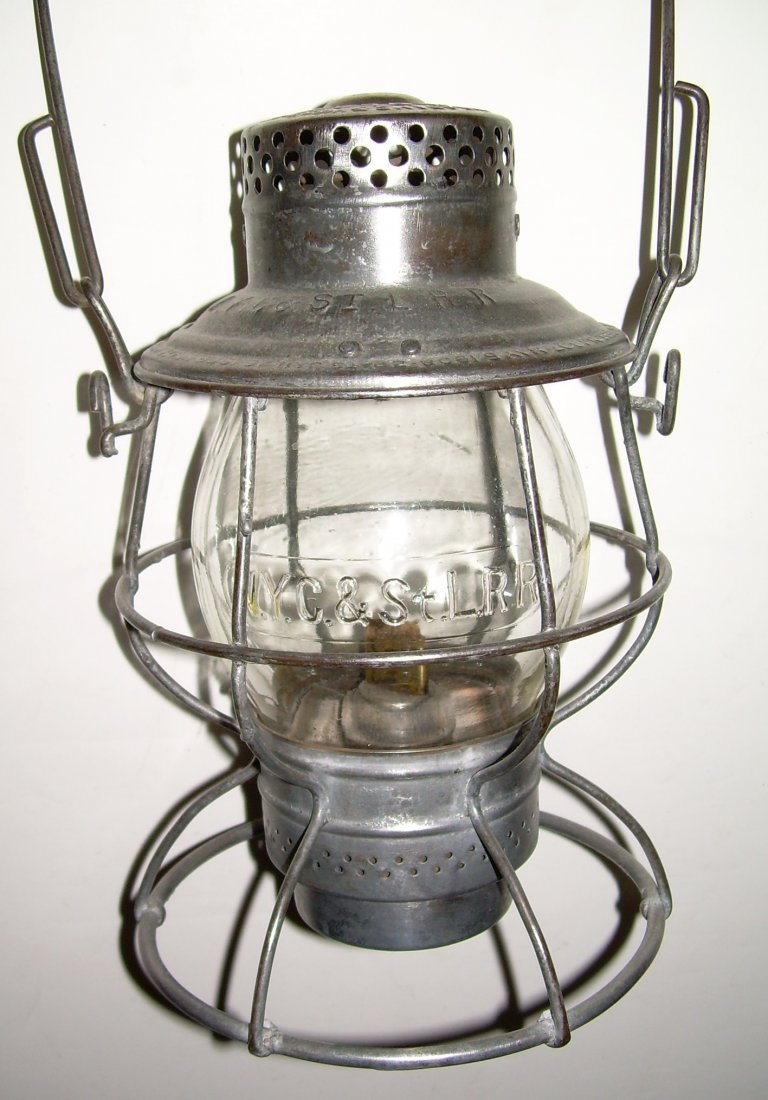 Nickle Plate Road Tall Lantern Cast Globe