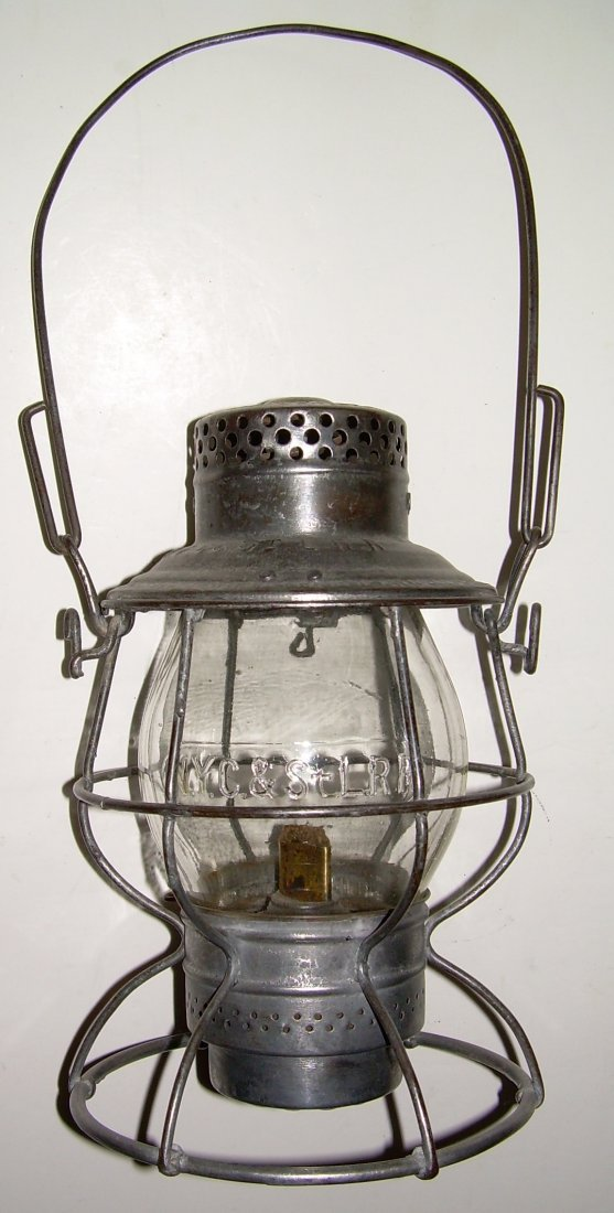 Nickle Plate Road Tall Lantern Cast Globe - 2