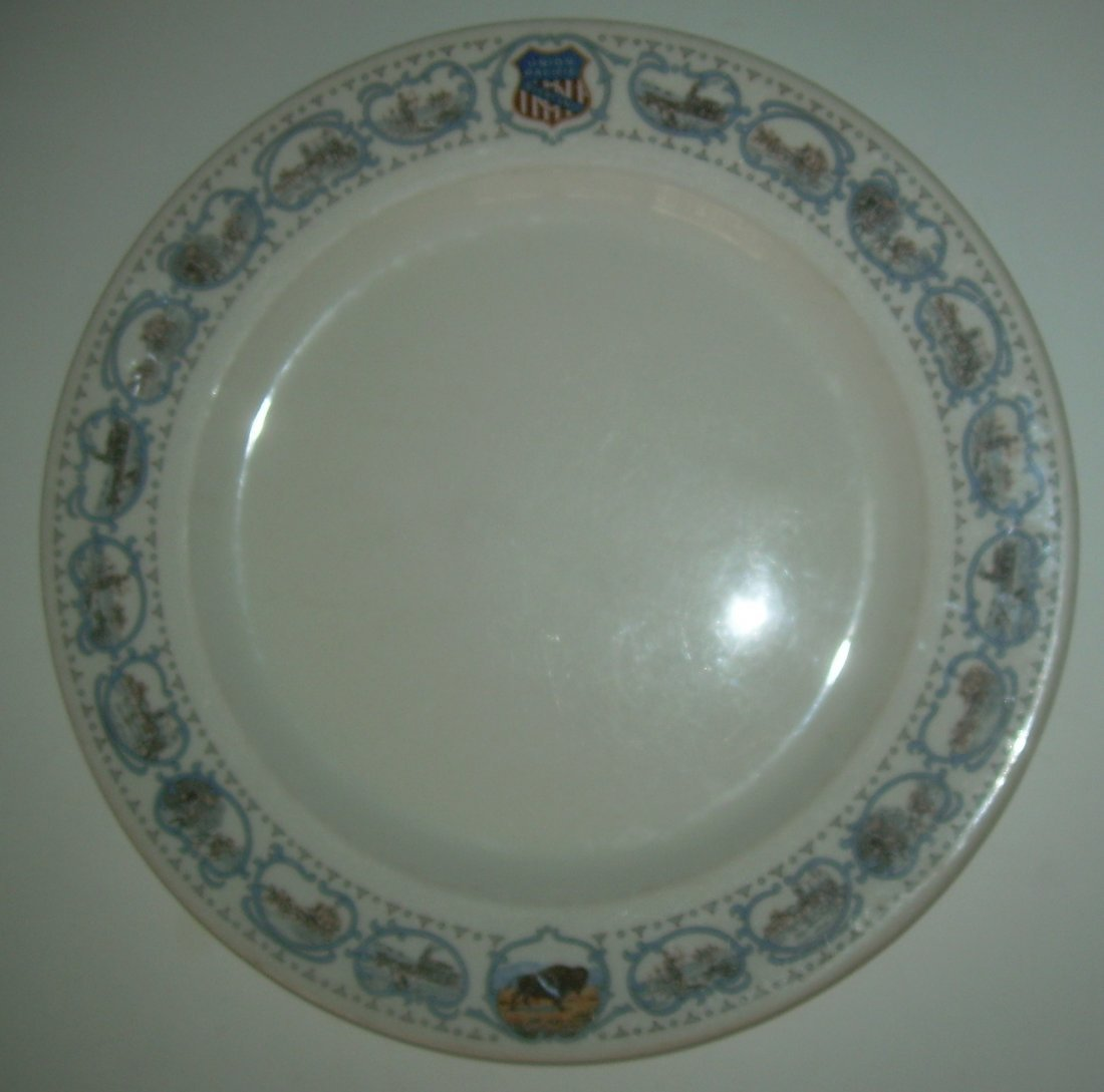 "Union Pacific Railroad Historical China 9.5"" Plate"