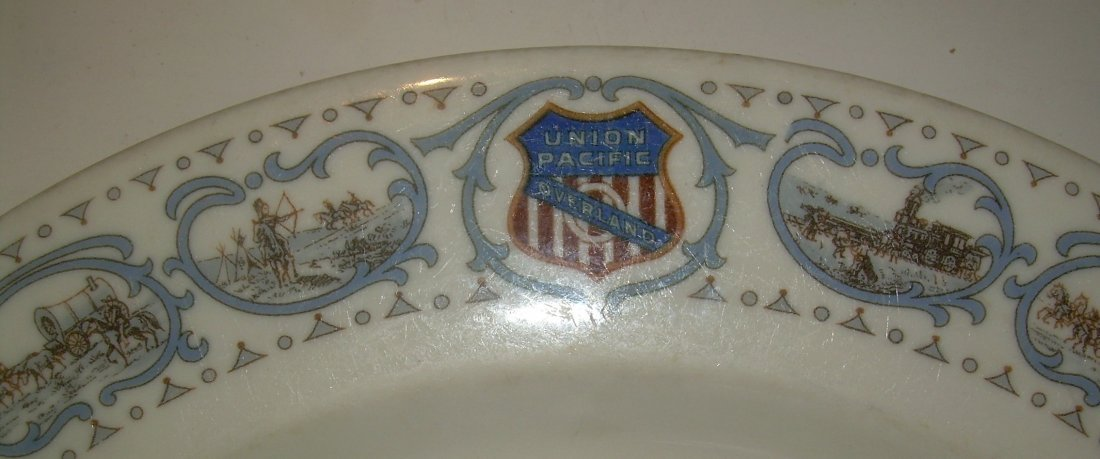 "Union Pacific Railroad Historical China 9.5"" Plate - 2"