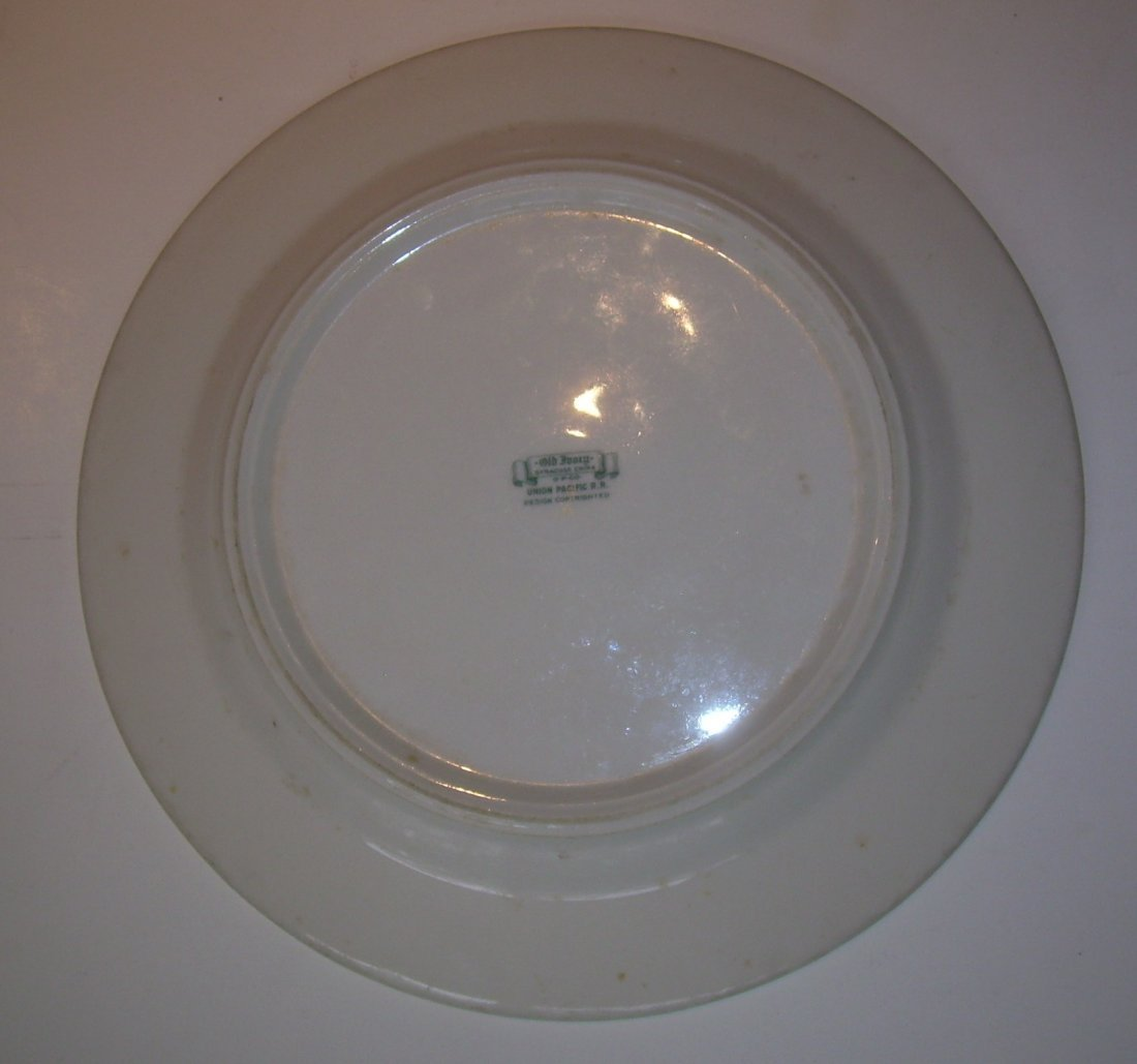 "Union Pacific Railroad Historical China 9.5"" Plate - 4"