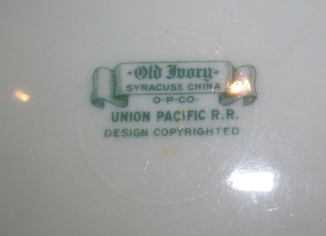 "Union Pacific Railroad Historical China 9.5"" Plate - 5"