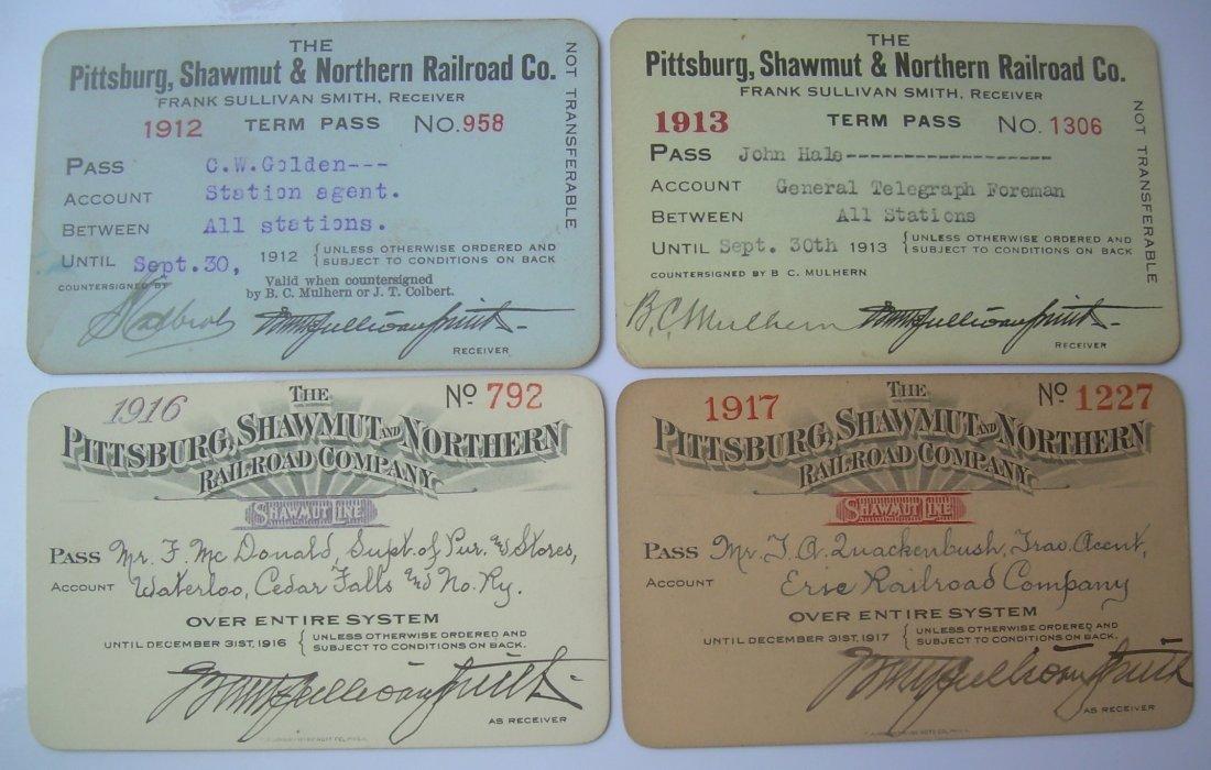 Pittsburg Shawmut & Northern Passes (4)