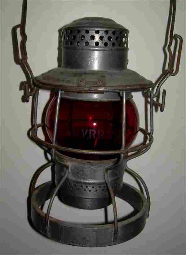 "Lehigh Valley Railroad ""engine base"" Lantern Red"