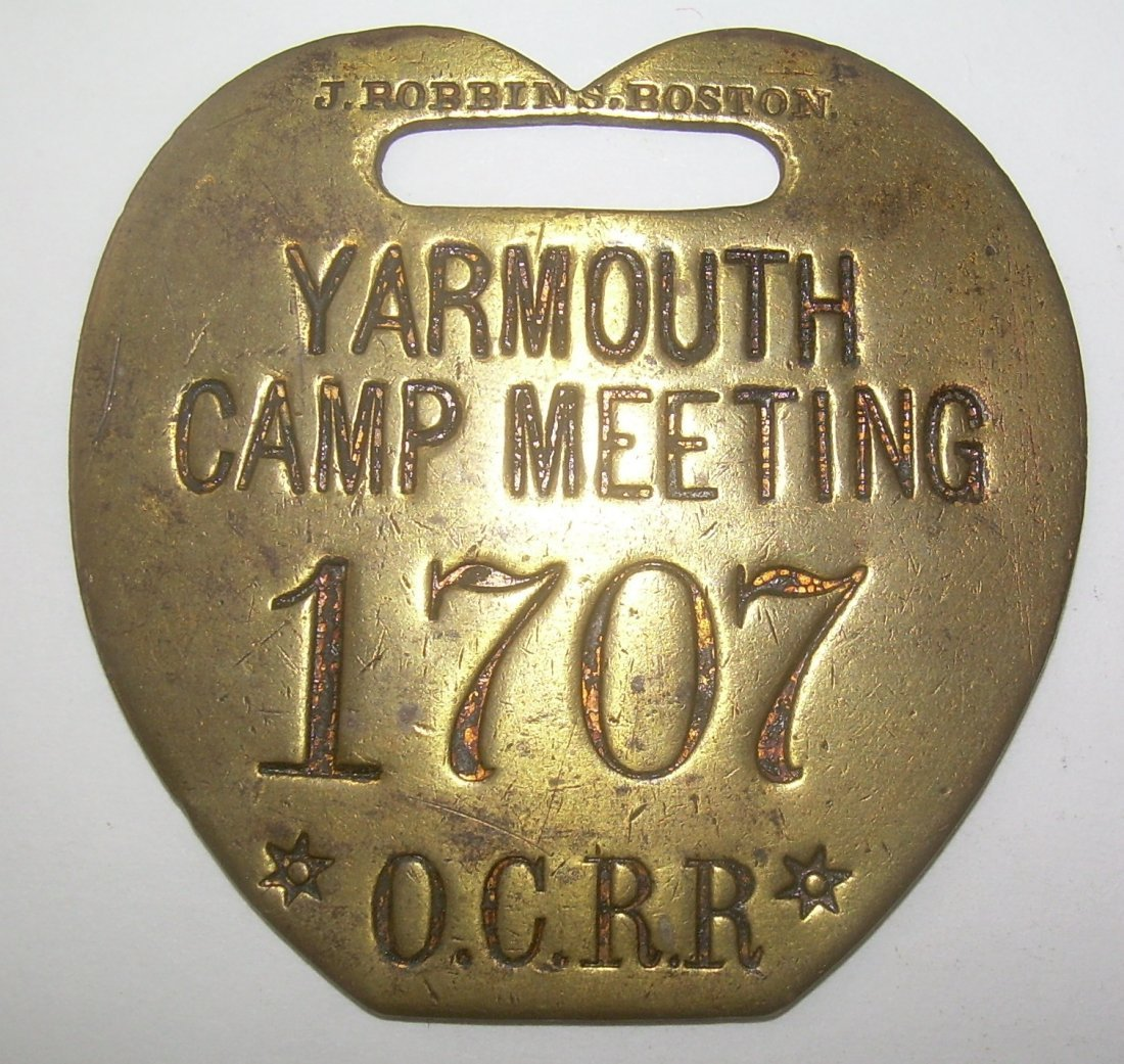 Yarmouth Camp Meeting OCRR Baggage Tag