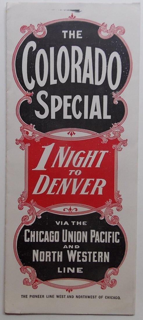 Colorado Special 1900 Timetable Promotional Folder