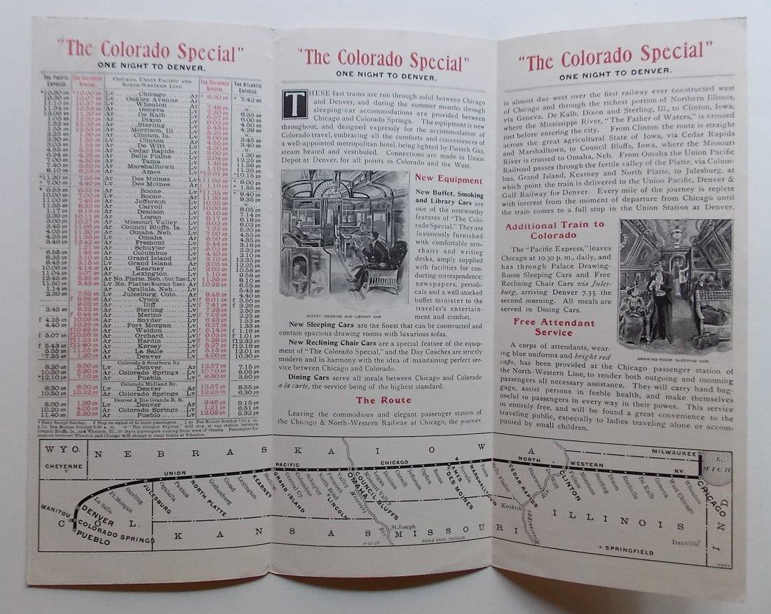 Colorado Special 1900 Timetable Promotional Folder - 2