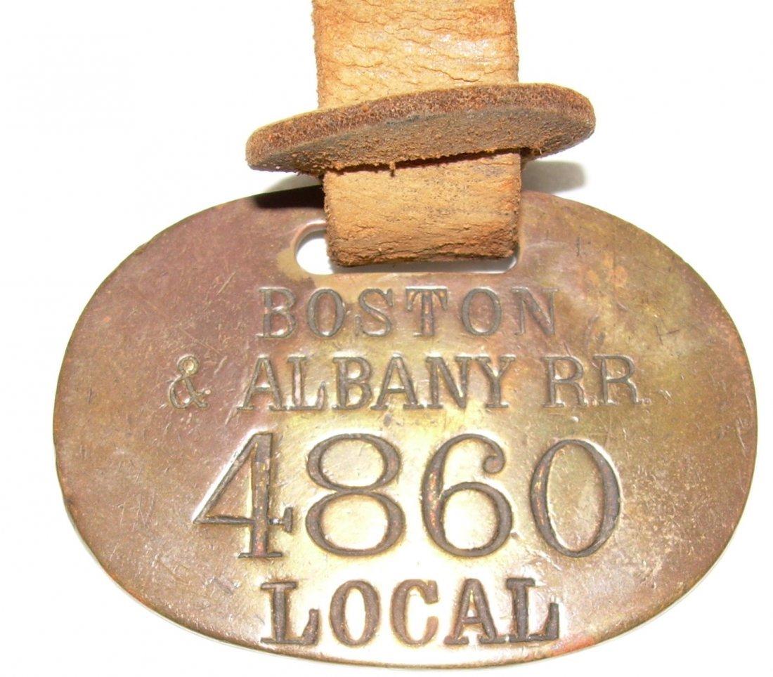 Boston & Albany early Baggage Tag