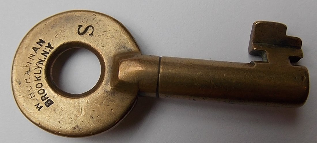 Boston & Lowell Railroad Brass Switch Key - 2