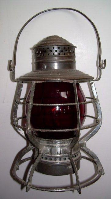 "New Haven ""Adams"" Lantern Red Cast Globe"