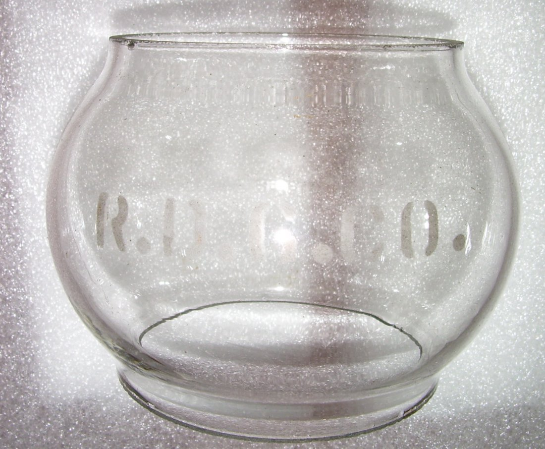 Reading Company Lantern Clear Etched Globe - 4