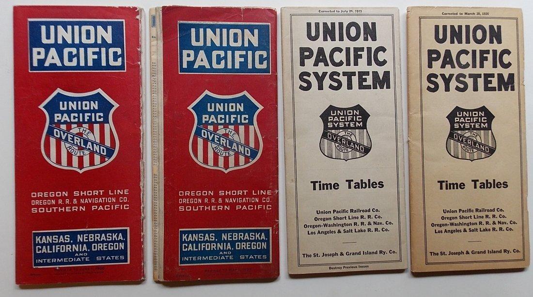 Union Pacific Railroad Timetables (4) 1906-1926