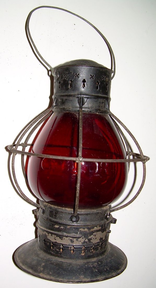 Grand Trunk Railway Red Cast Fixed Globe Lantern