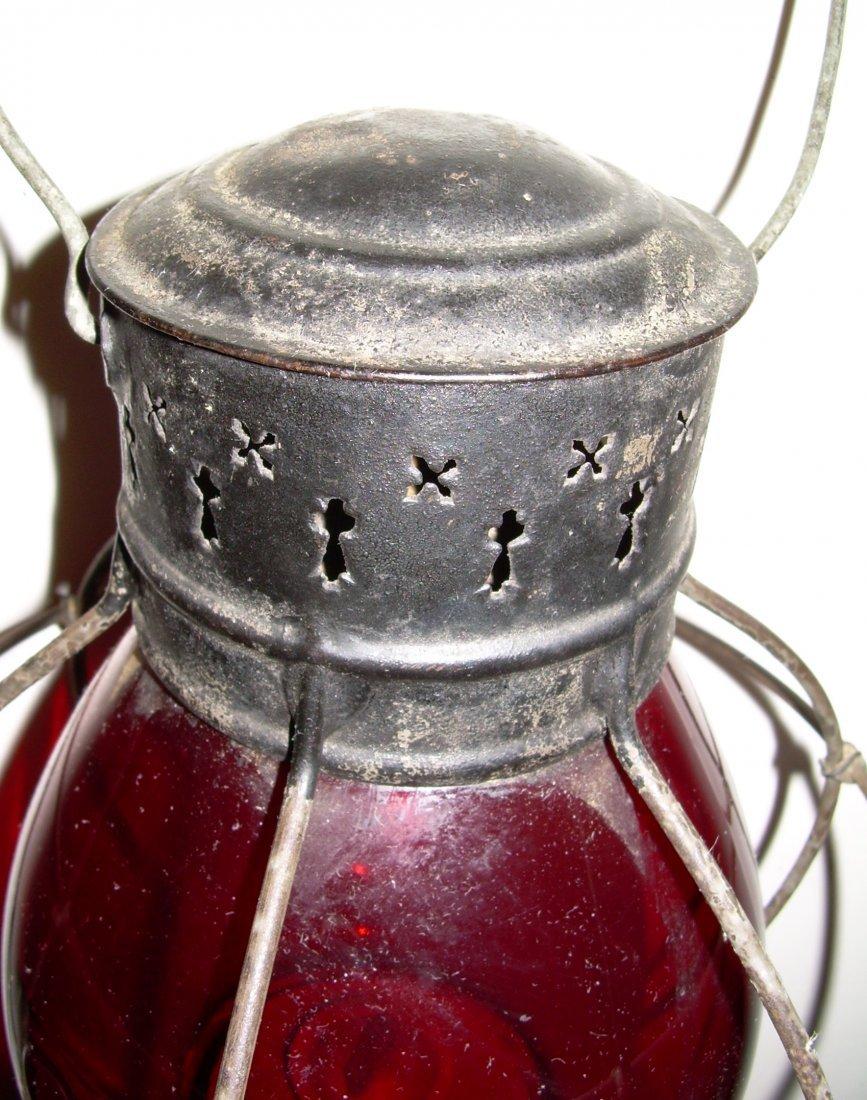 Grand Trunk Railway Red Cast Fixed Globe Lantern - 3