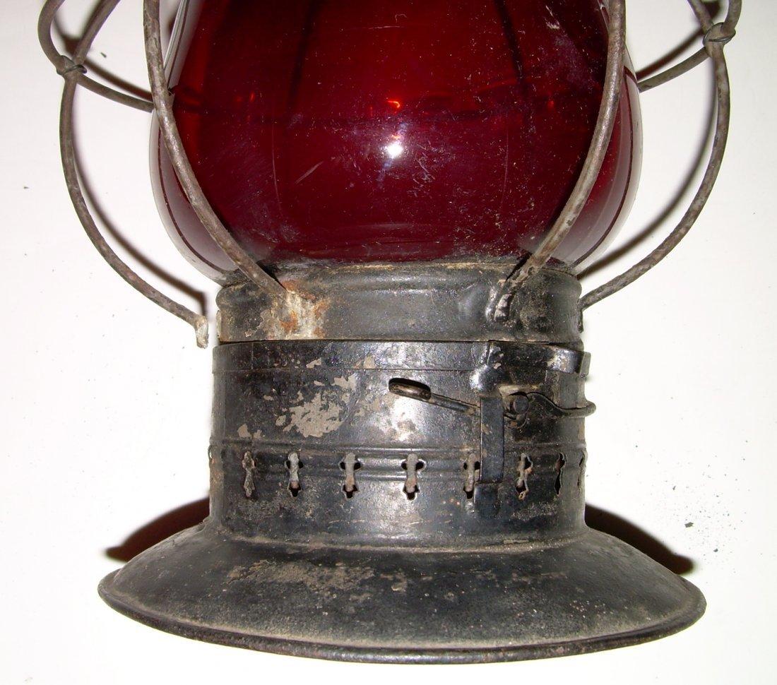 Grand Trunk Railway Red Cast Fixed Globe Lantern - 4