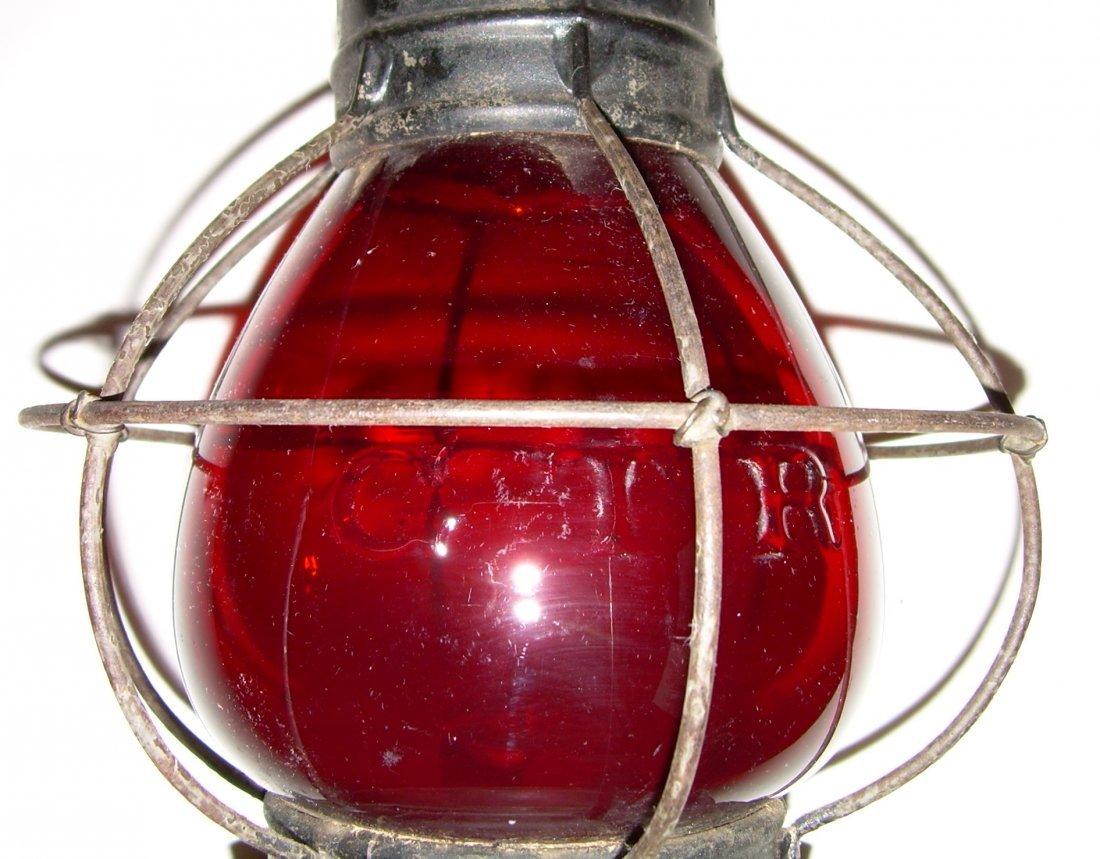 Grand Trunk Railway Red Cast Fixed Globe Lantern - 5