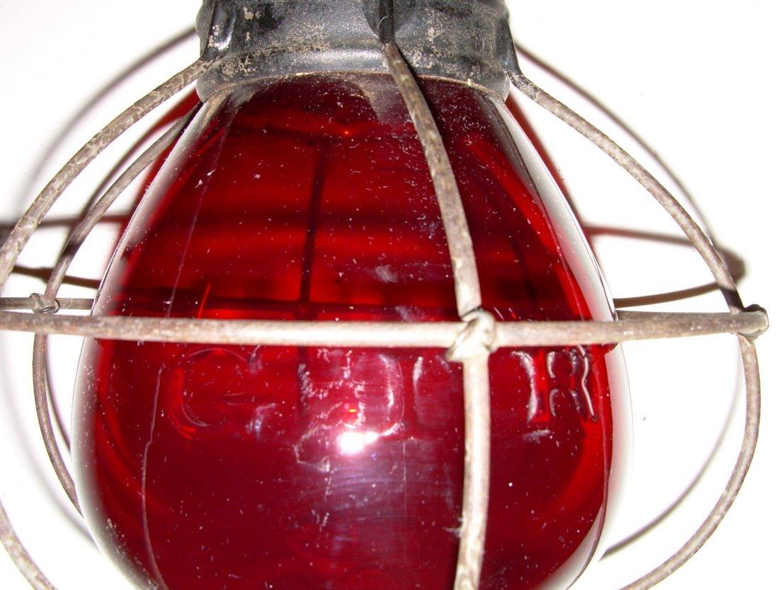 Grand Trunk Railway Red Cast Fixed Globe Lantern - 6