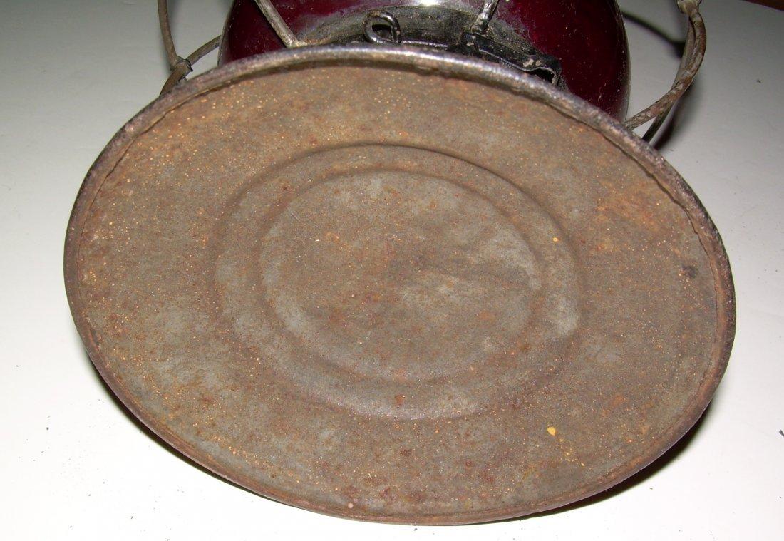 Grand Trunk Railway Red Cast Fixed Globe Lantern - 7