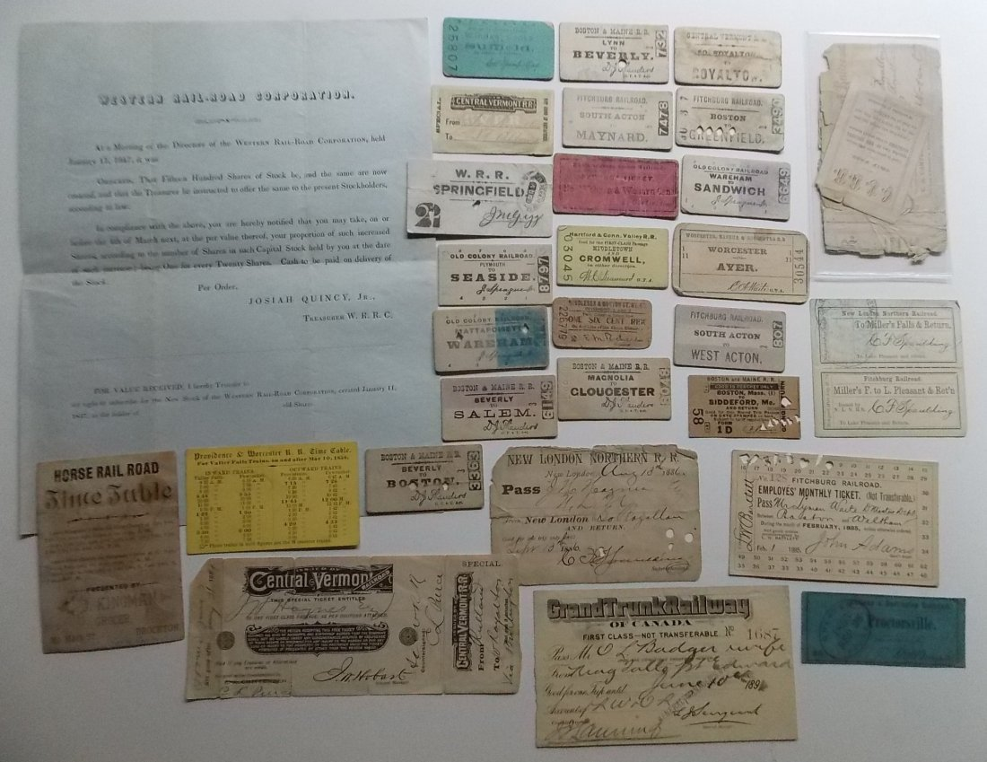 New England Railroad Tickets & Ephemera