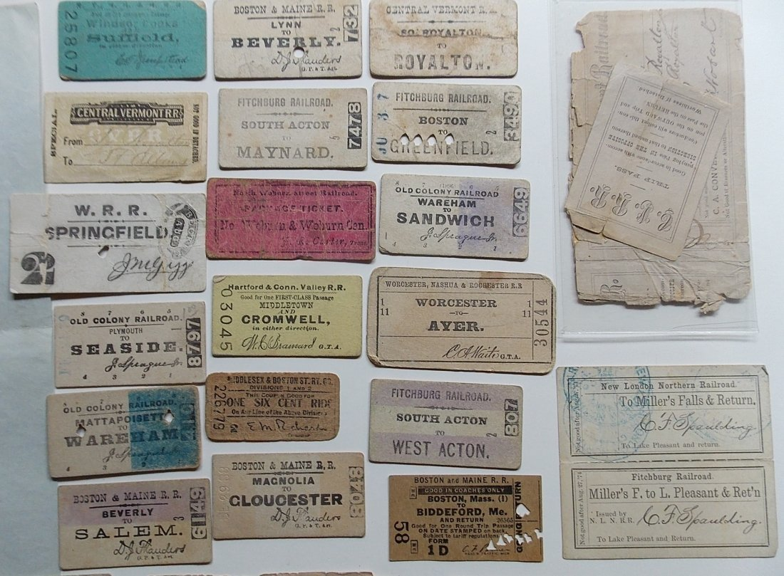 New England Railroad Tickets & Ephemera - 2