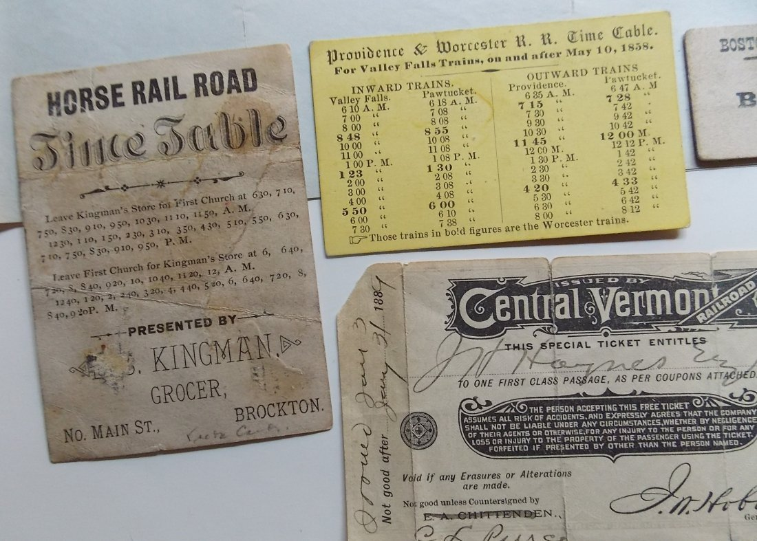 New England Railroad Tickets & Ephemera - 5
