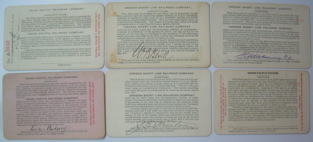 Union Pacific & OSL Annual Passes (6) - 2