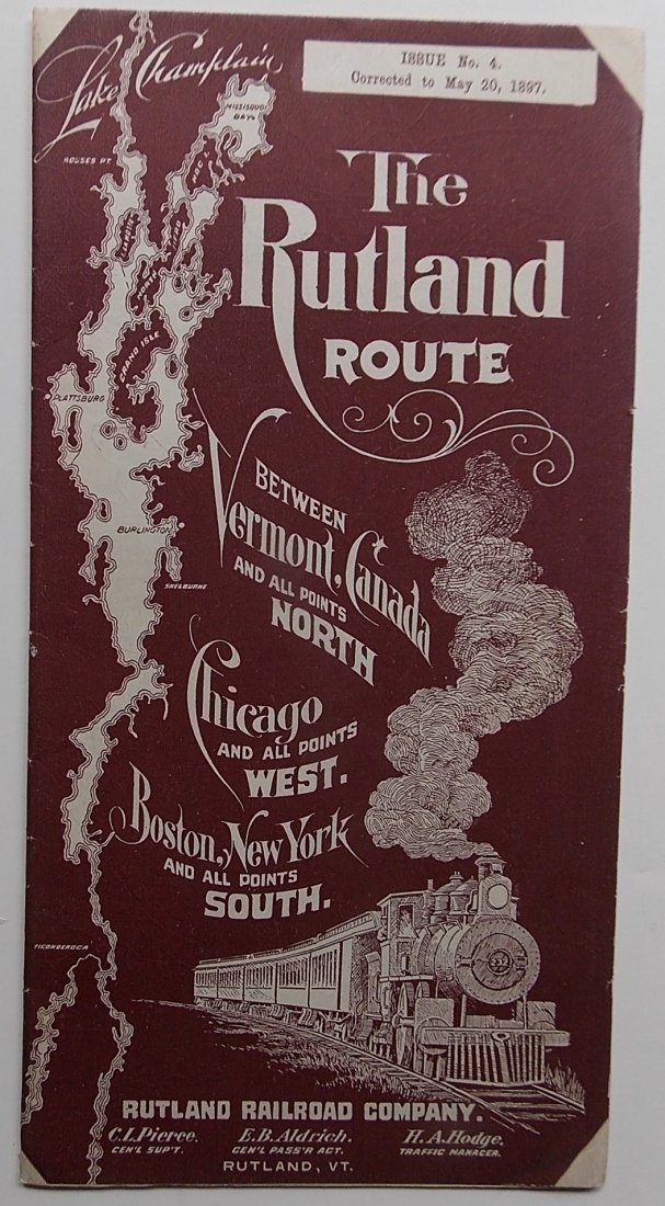 Rutland Railroad 1897 Timetable