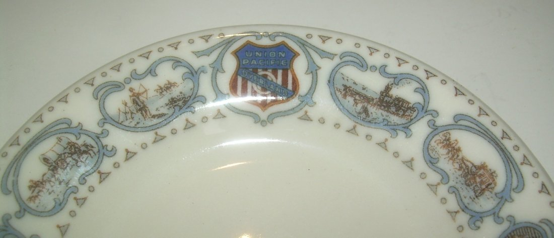 Union Pacific Railroad Historical China Butter Pat - 2