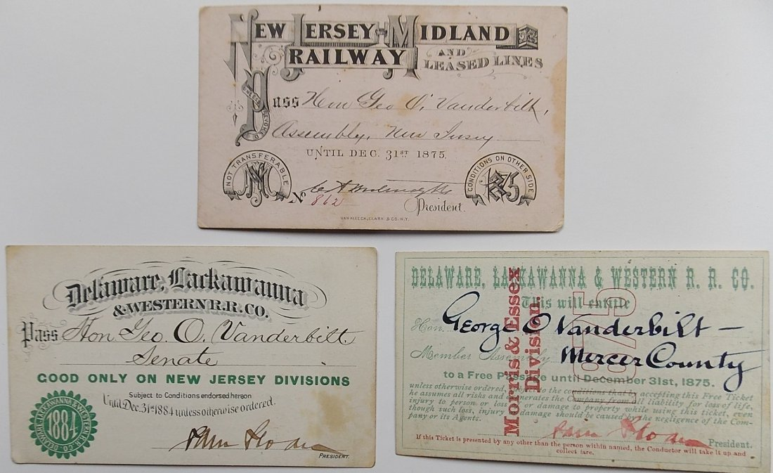 NJ Midland & Lackawanna Annual Passes (3)