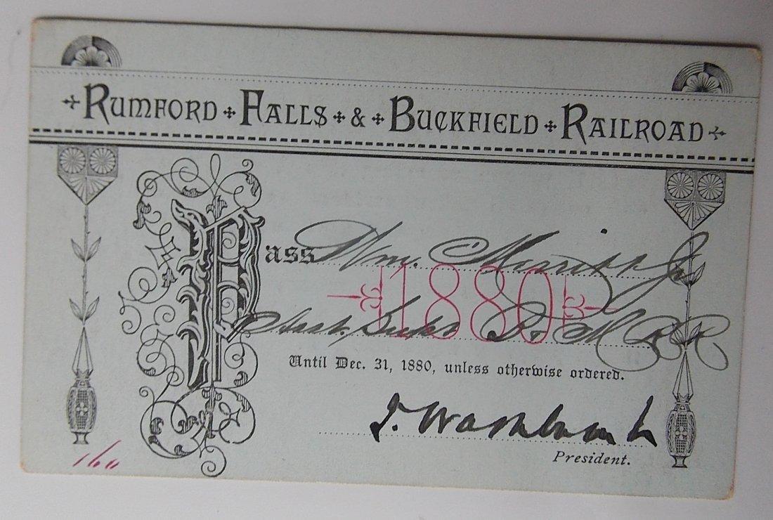 Rumford Falls & Buckfield Pass 1880
