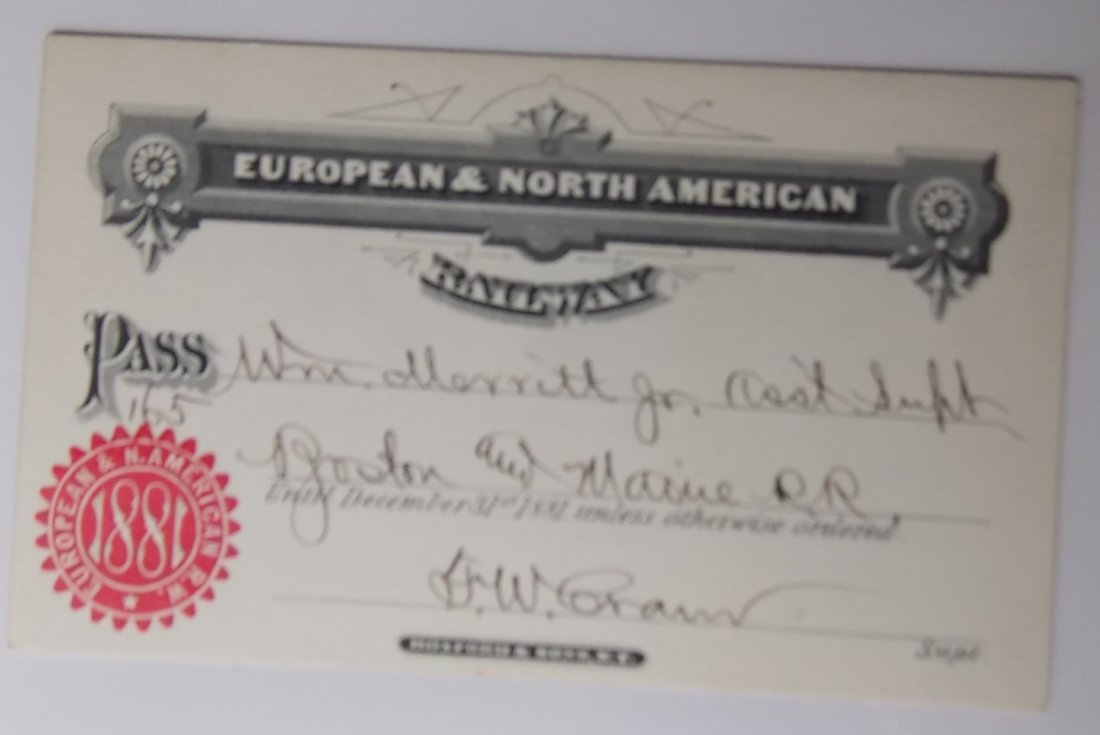European & North American Pass 1881