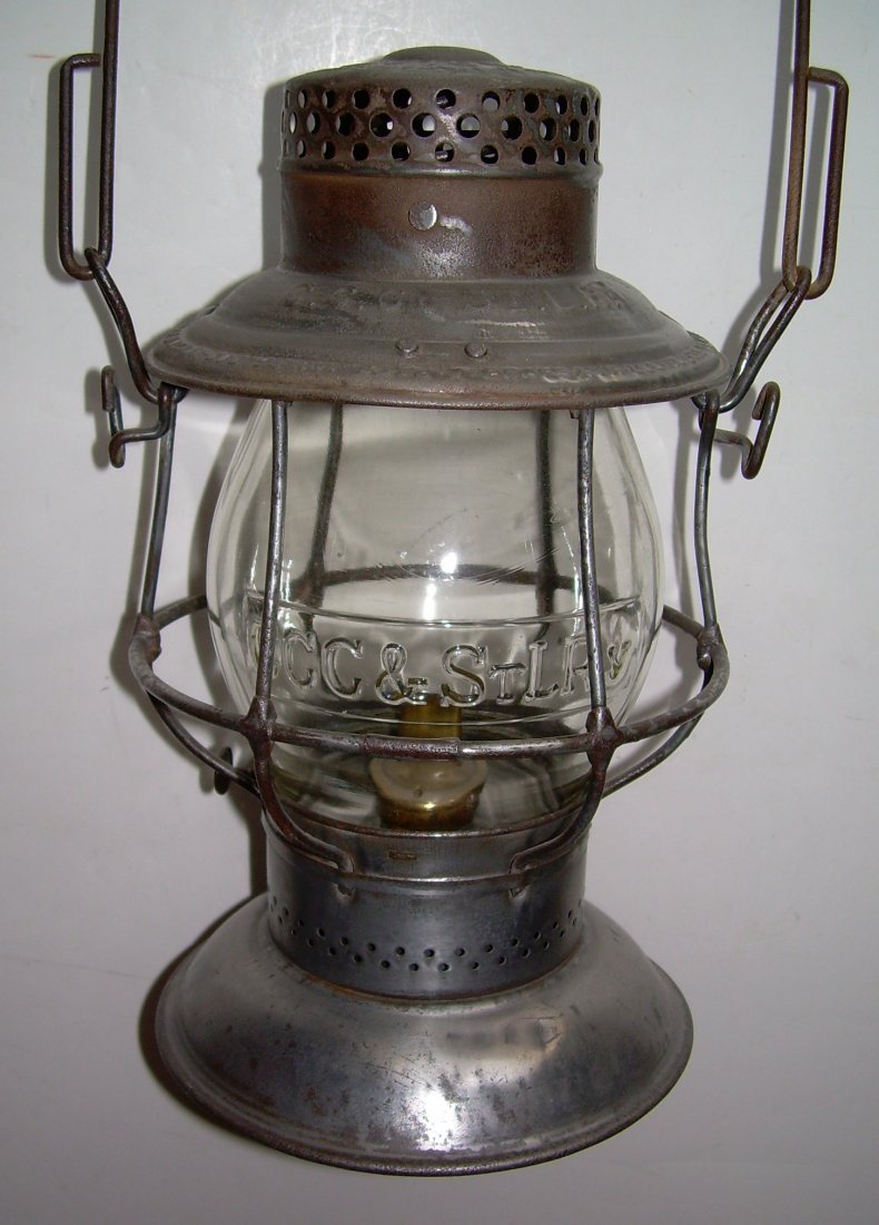 Big Four Railroad Bellbottom Lantern nice Globe