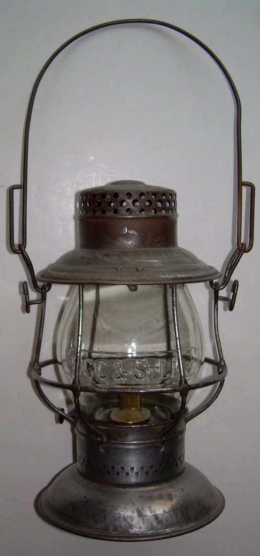 Big Four Railroad Bellbottom Lantern nice Globe - 2