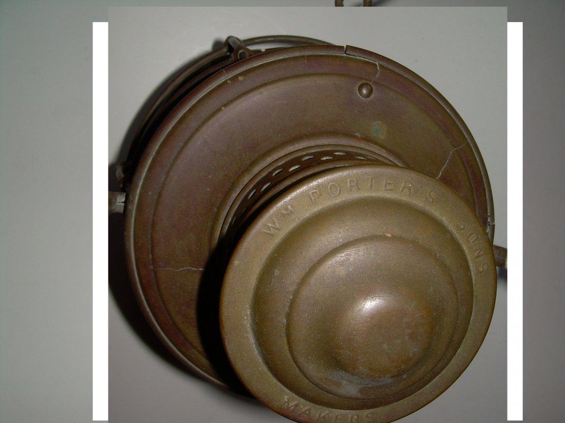 """Porter & Sons Brass Lantern DL&W 6"""" Cast Globe - 2"""