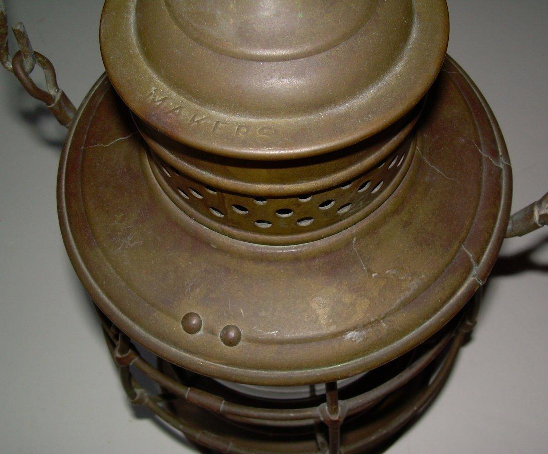 """Porter & Sons Brass Lantern DL&W 6"""" Cast Globe - 3"""