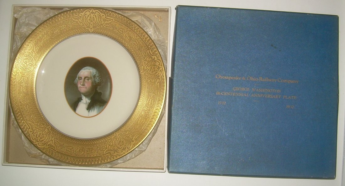 Chesapeake & Ohio Washington Plate in original box